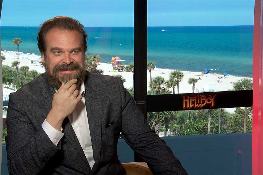 Interview: HELLBOY's David Harbour Is Over Red