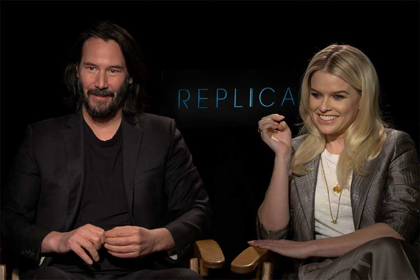 Interview: Keanu Reeves & Alice Eve Talk 'Replicas'