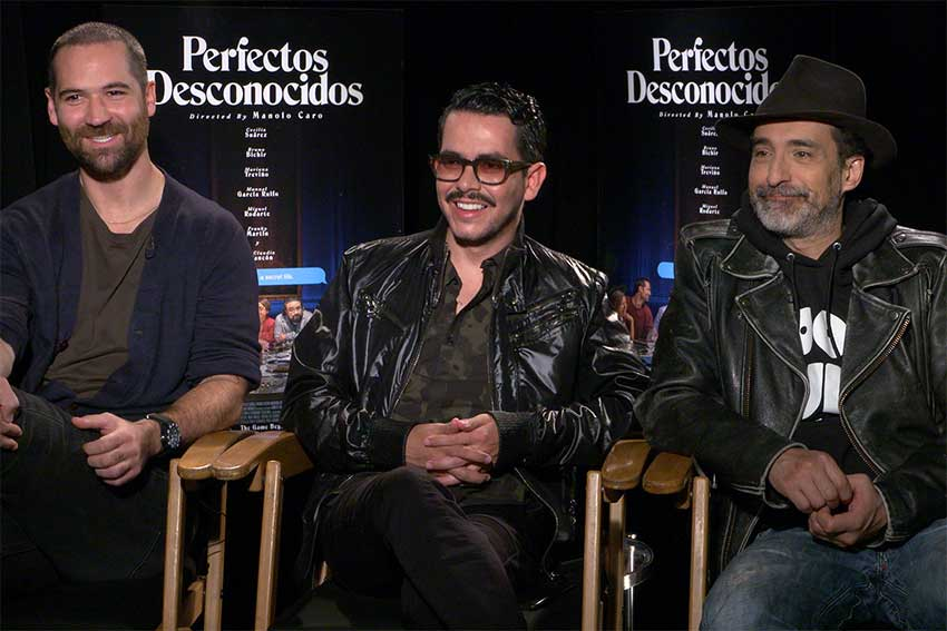 Interview: Manuel Garcia-Rulfo, Bruno Bichir & 'Perfectos Desconocidos' Director Manola Caro