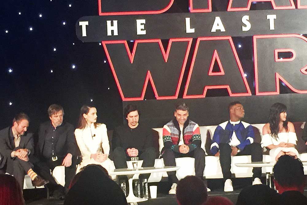 Watch Full Interview: Star Wars: Last Jedi Press Conference