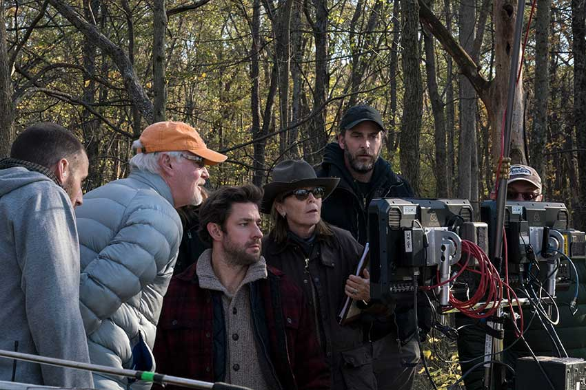 A Quiet Place on set