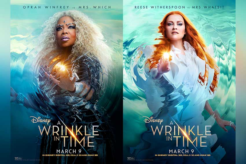 A Wrinkle in Time character movie posters