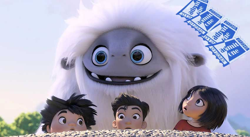 Abominable 4 pack movie ticket giveaway