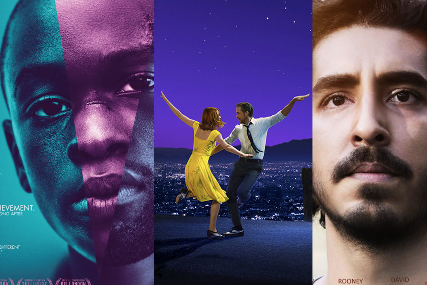 Academy Awards 2017 movies Moonlight, La La Land, Lion