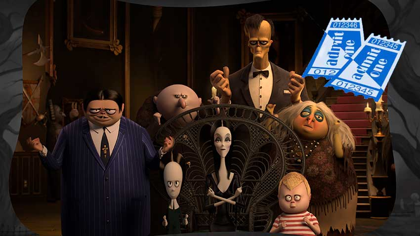 Addams Family ticket giveaway