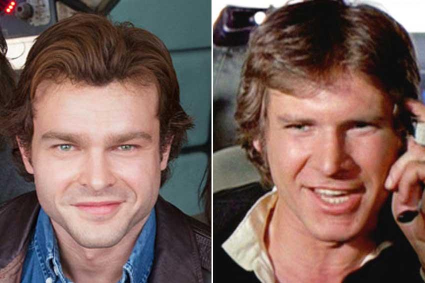 Alden Ehrenreich Vs Harrison Ford Han Solo