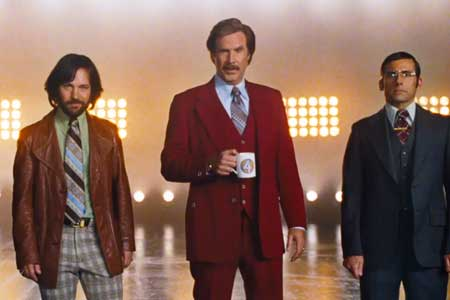 Paul Rudd, Will Ferrell, Steve Carell in Anchorman 2 trailer