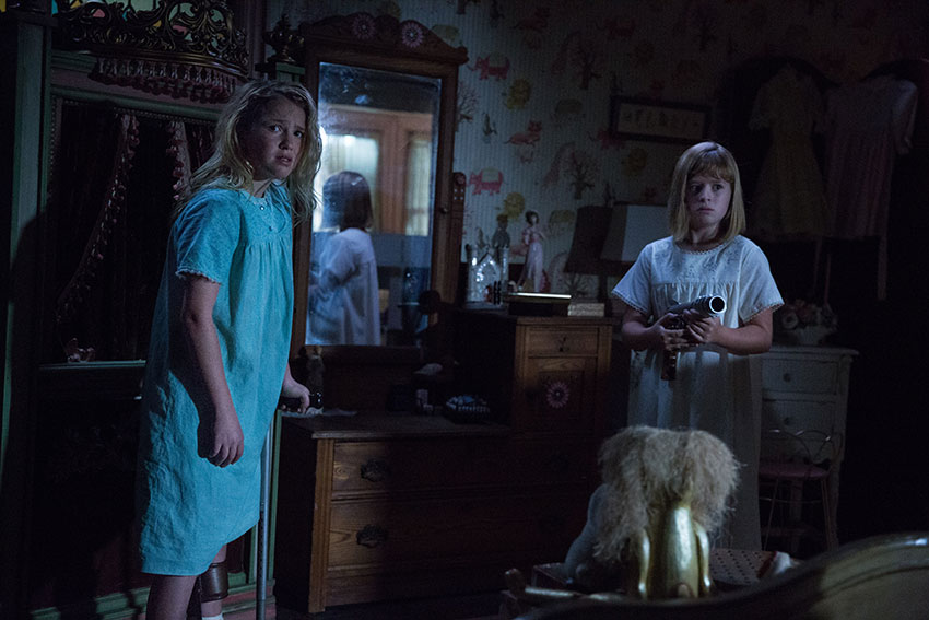 Annabelle Creation Talitha Bateman Lulu Wilson horror movie