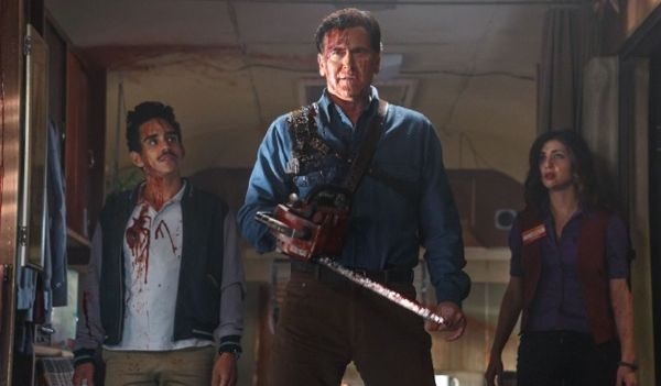 Ash vs Evil Dead's Bruce Campbell and Ray Santiago