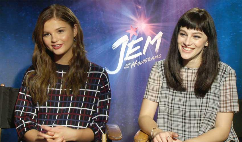 Stefanie Scott And Aubrey Peeples Talk Cute Wall E Look Alike In Jem