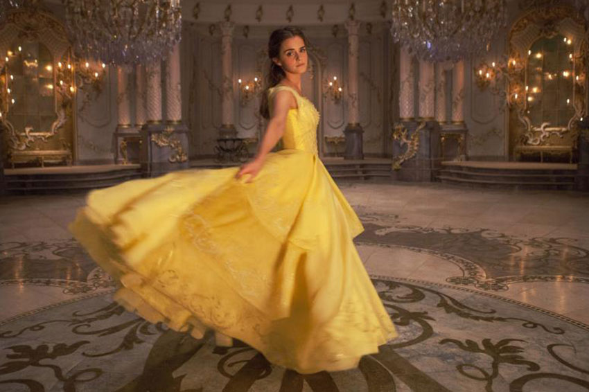 BeautyAndTheBeast EmmaWatson yellow dress