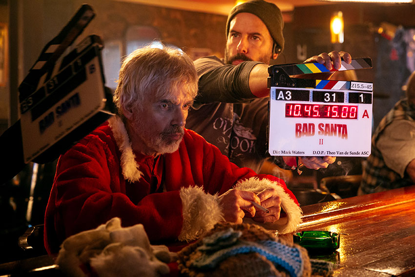Bad Santa 2 Billy Bob Thornton on set