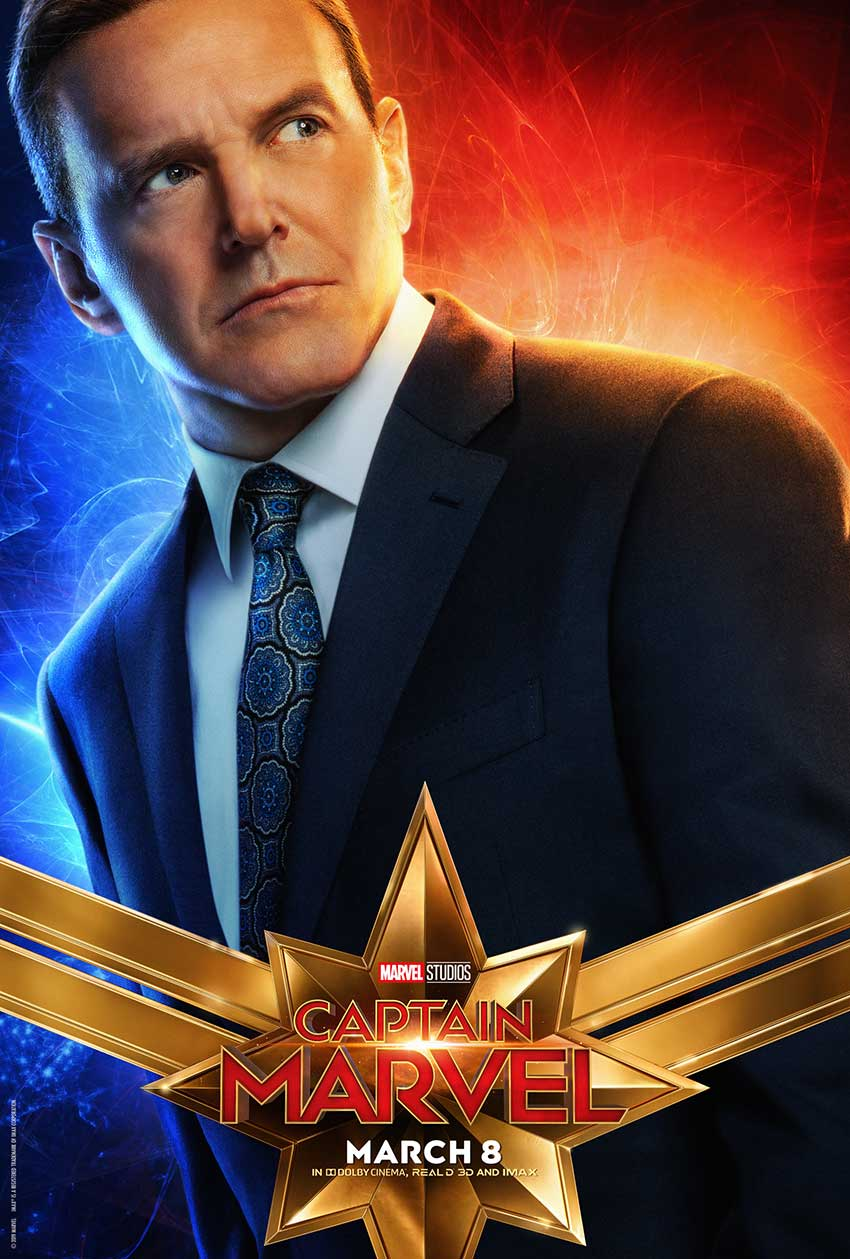 Captain Marvel Clark Gregg poster