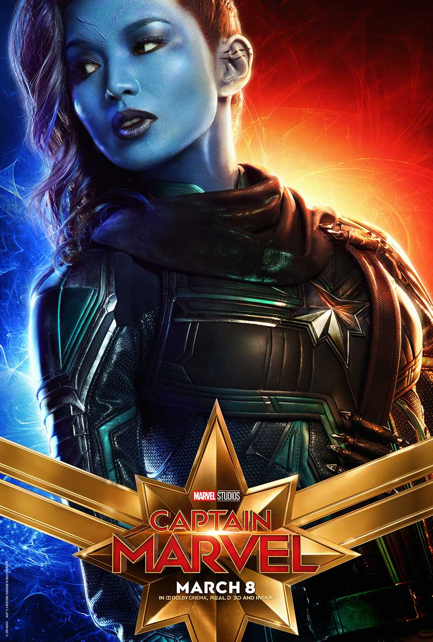 Captain Marvel Gemma Chan poster