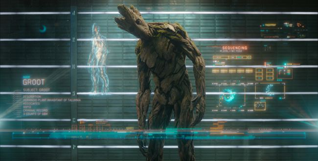 Groot in Guardians of Galaxy Movie