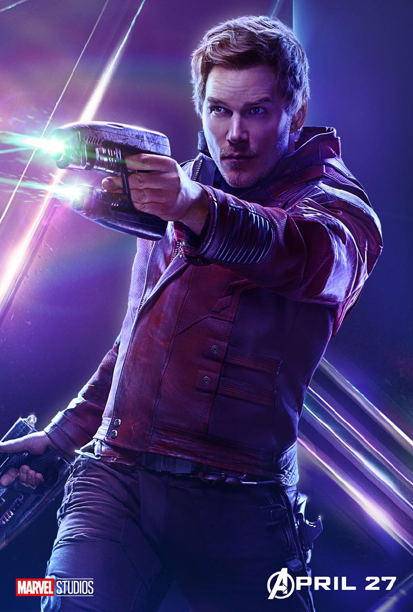 Avengers Infinity War Character Star Lord