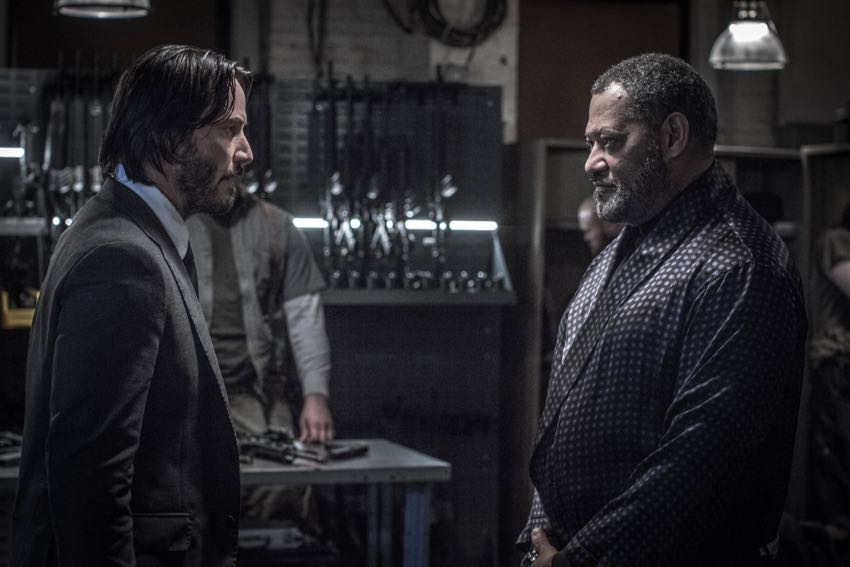John Wick Chapter 2 Keanu Reeves Laurence Fishburne