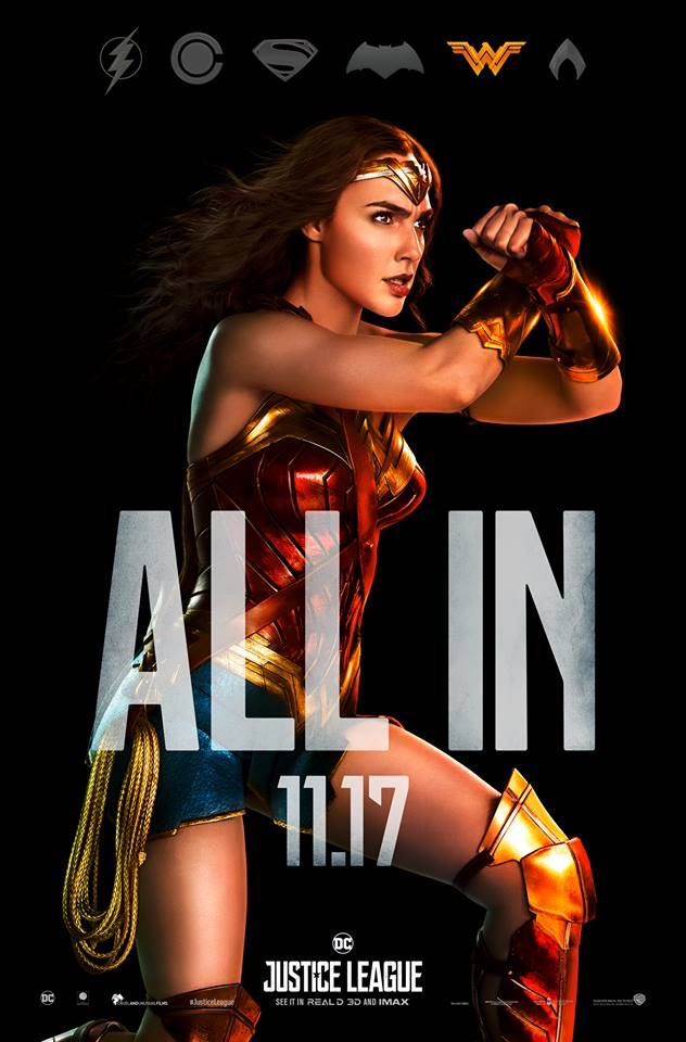 Wonder Woman Justice League Character Posters