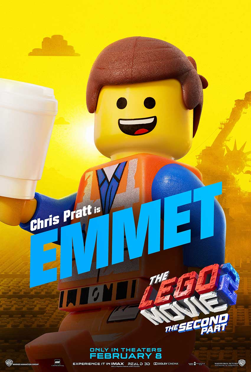 LEGO 2 movie EMMET character movie poster