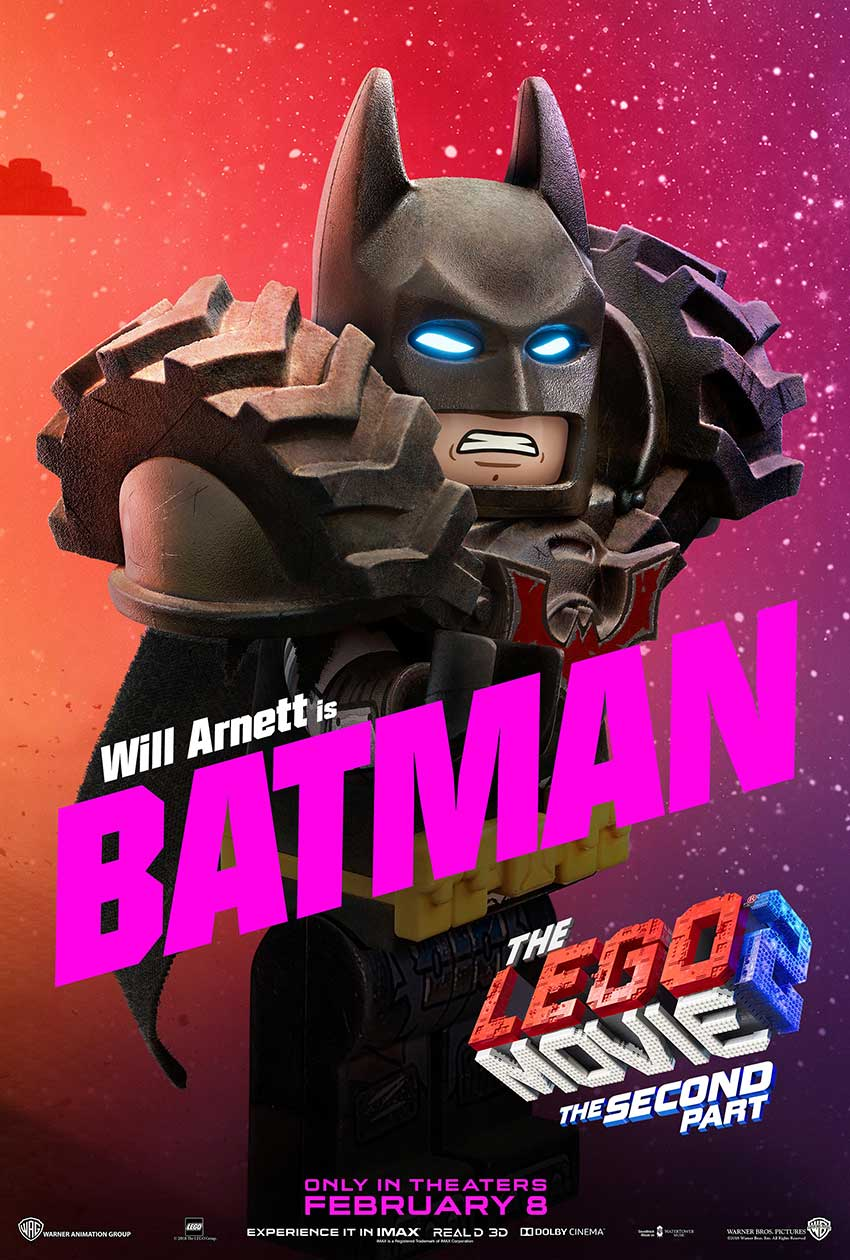 LEGO 2 MOVIE BATMAN character movie poster