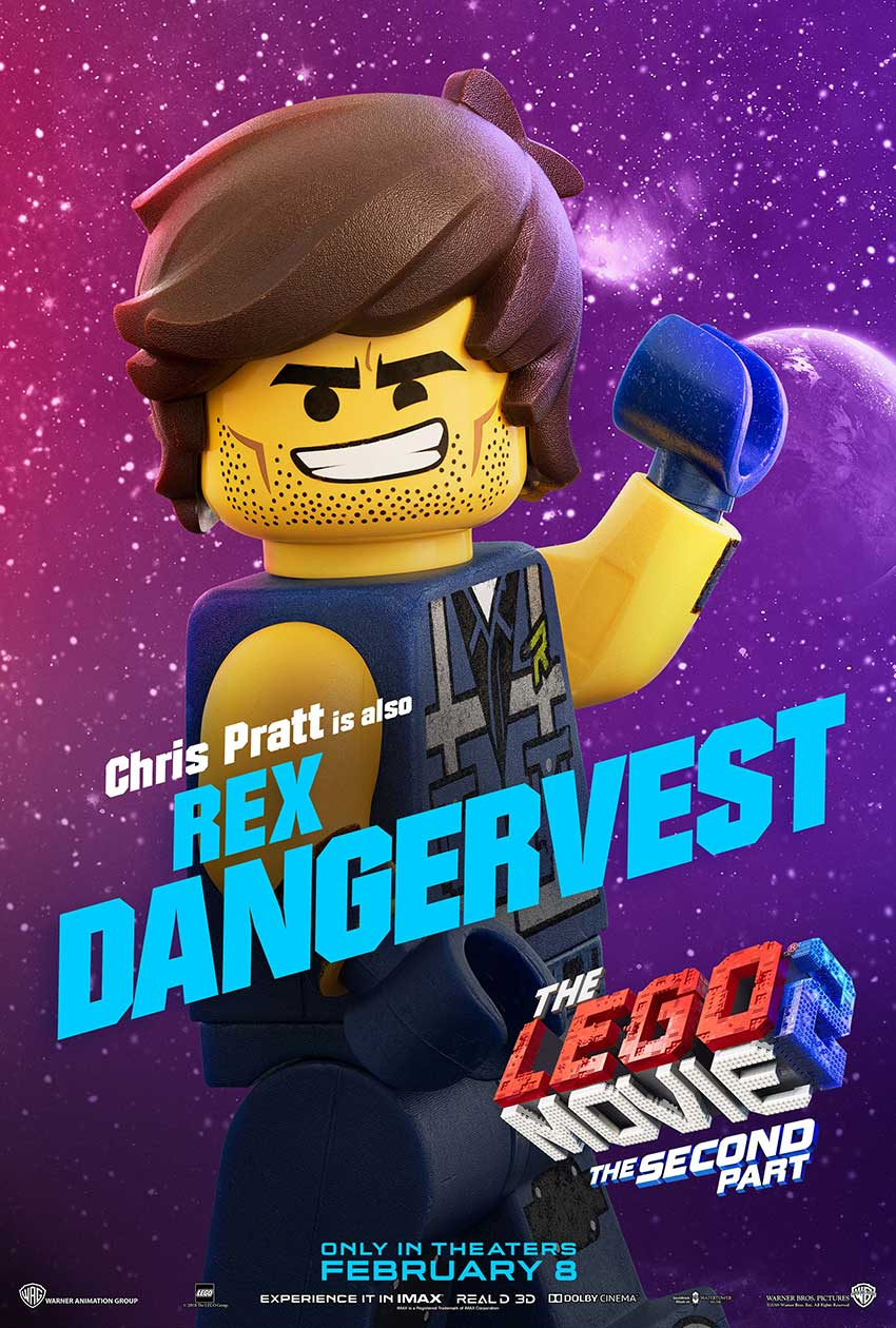 Lego 2 movie character movie poster Rex