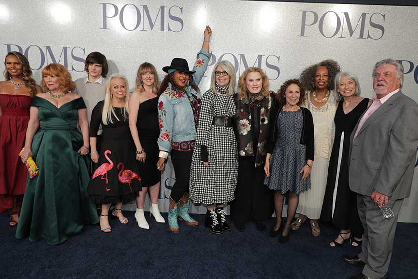 Poms movie Hollywood premiere