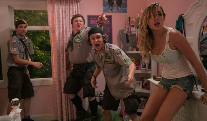 Scouts Guide  to the Zombie Apocalypse starring Logan Miller, Joey Morgan, Sarah Dumont
