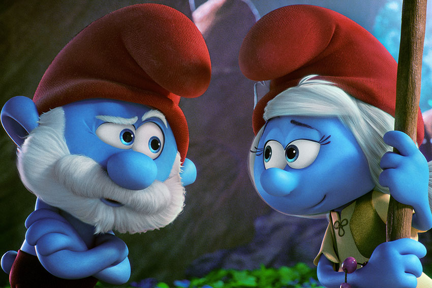 Smurfs Lost Village PapaSmurf JuliaRoberts New Smurf