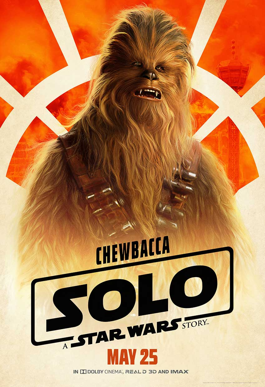 Solo Chewbacca Star Wars movie poster