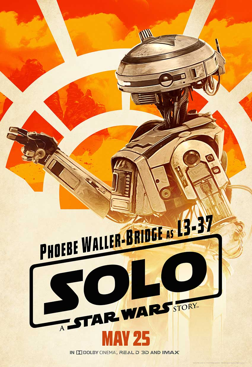 Solo L337 Star Wars movie poster