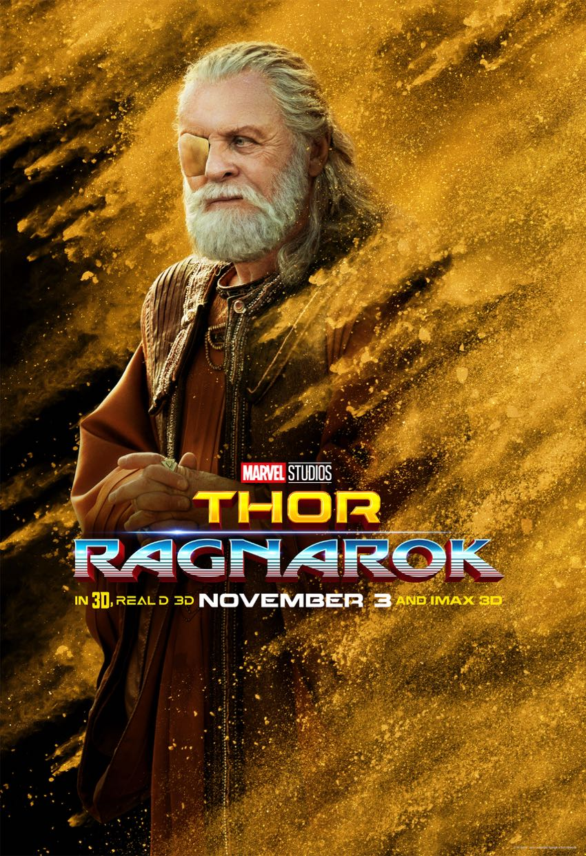 Thor Ragnarok Character Posters Anthony Hopkins Odin
