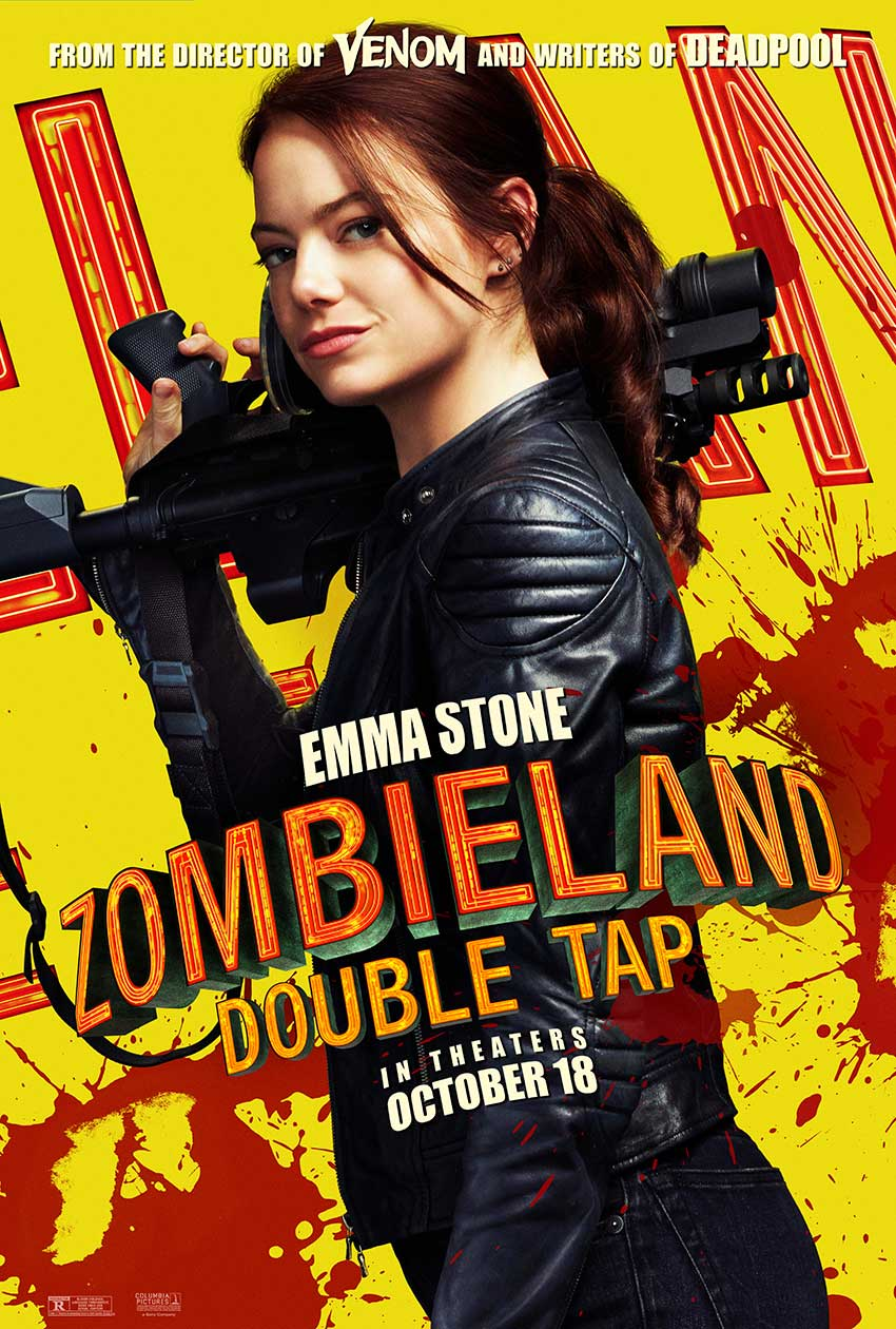Zombieland Double Tap Emma Stone movie poster