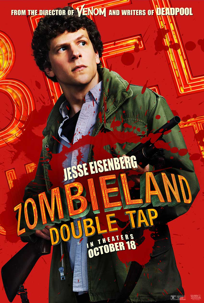 Zombieland Double Tap Jesse Eisenberg movie poster