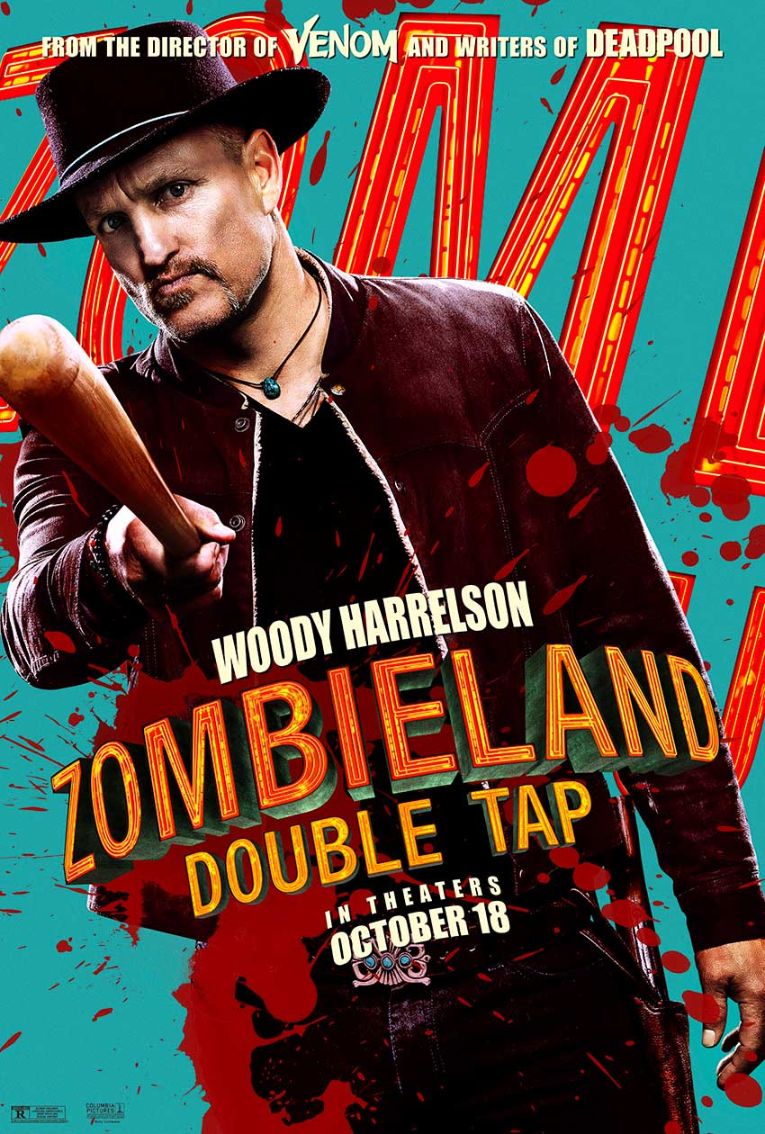 Zombieland Double Tap Woody Harrelson movie poster