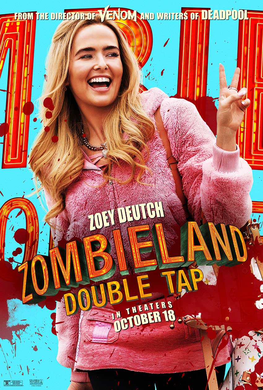 Zombieland Double Tap movie poster Zoey Deutch