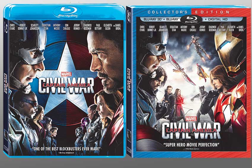 Captain America Civil War Blu ray DVD