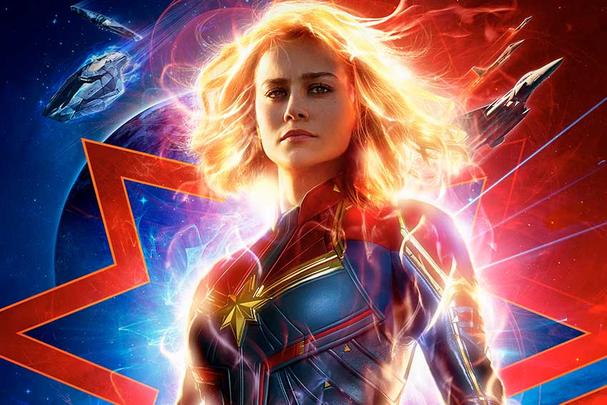 Captain Marvel Brie Larson movie poster image