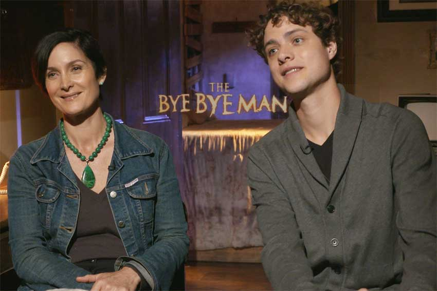 Carrie Anne Moss and Douglas Smith The Bye Bye Man CineMovie interview