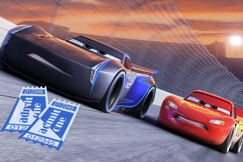 Cars 3 ticket giveaway