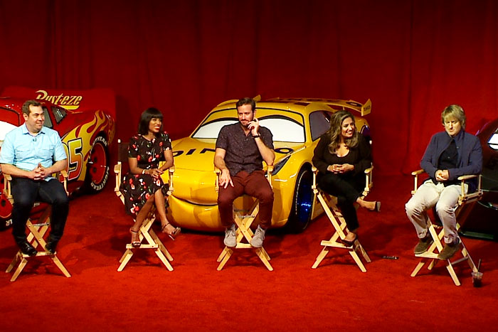 Cars Interview Cristela Alonso Owen Wilson Kerry Washington Armie Hammer