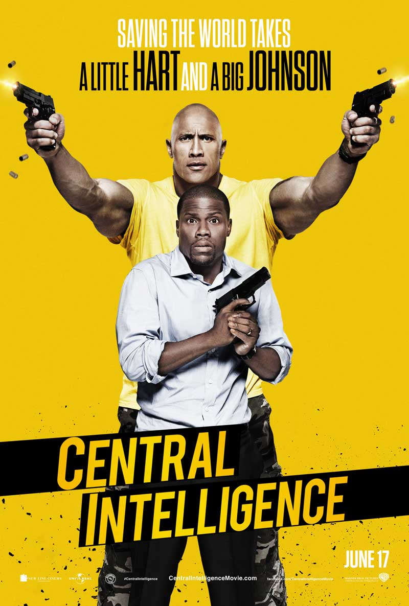 Central Intelligence Dwayne Johnson Kevin Hart movie poster