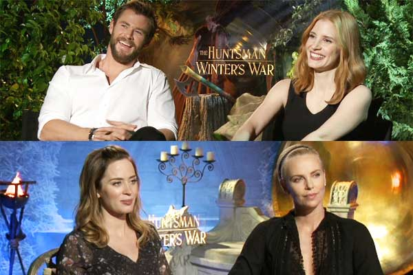 Chris Hemsworth Jessica Chastain Emily Blunt Charlize Theron The Huntsman Winters War 600