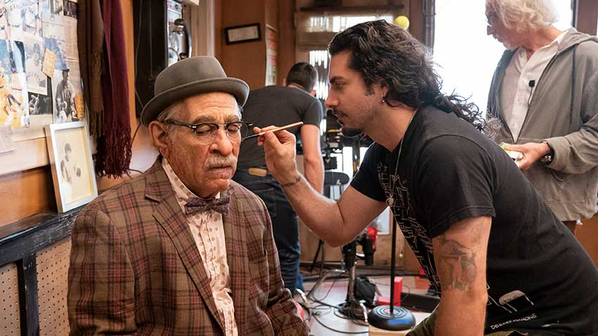 Coming 2 America set makeup Eddie Murphy Michael Marino
