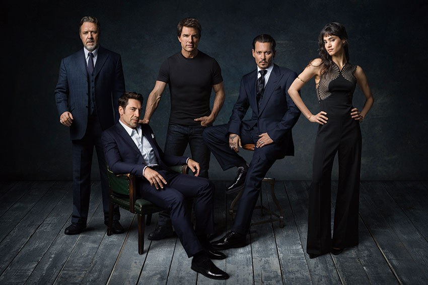 Dark Universe Tom Cruise Russell Crowe Johnny Depp Javier Bardem Sofia Boutella
