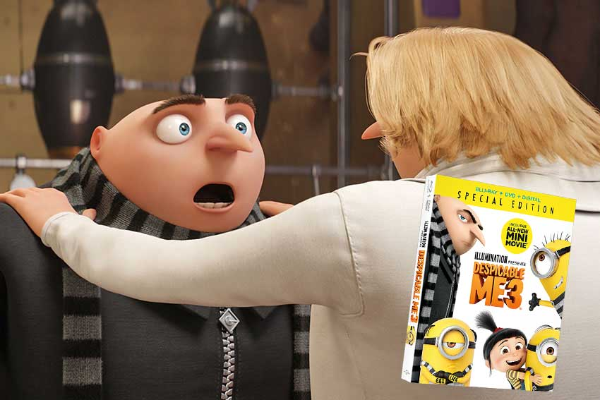 Despicable Me 3 Blu ray Giveaway