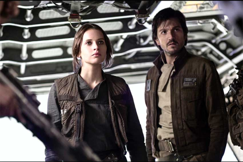 Felicity Jones and Diego Luna Rogue One: A Star Wars Story