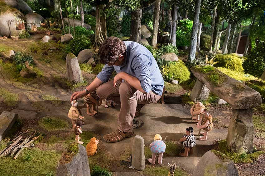 Early Man on set stop motion
