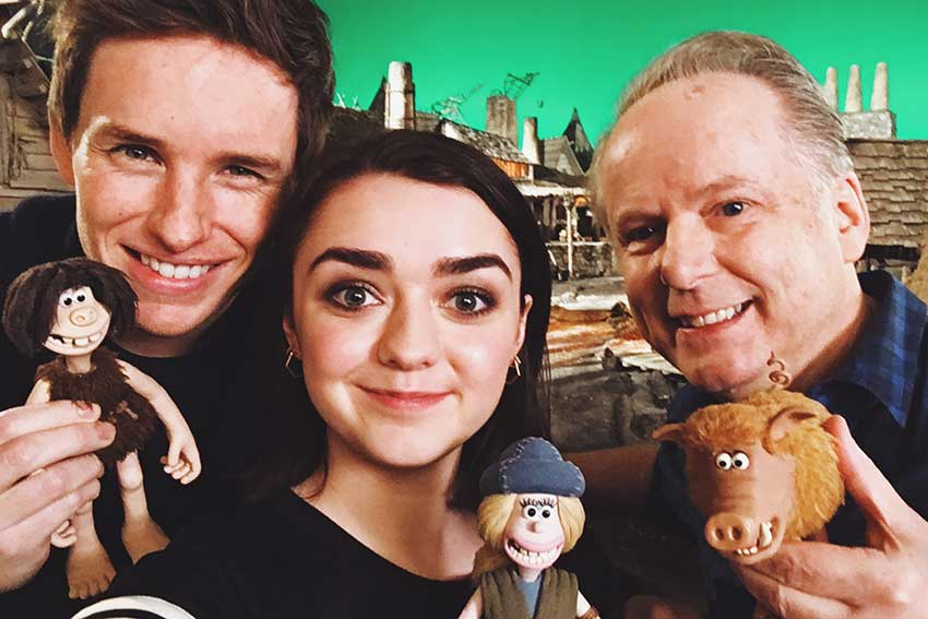 Eddie Redmayne Maisie Williams Nick Park Early Man