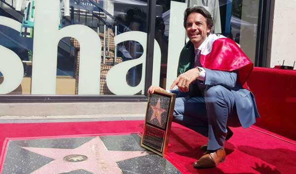 Eugenio Derbez Walk of Fame intervew