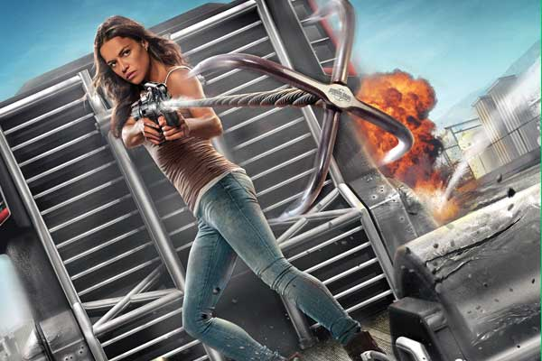 Fast Furious Supercharged Michelle Rodriguez ride poster image